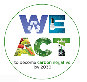 We Act to become carbon negative by 2030