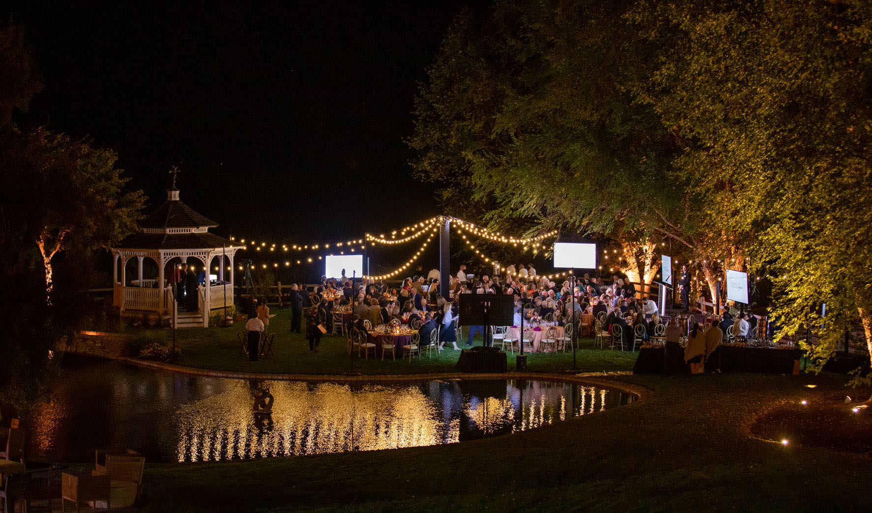 Event scape at night