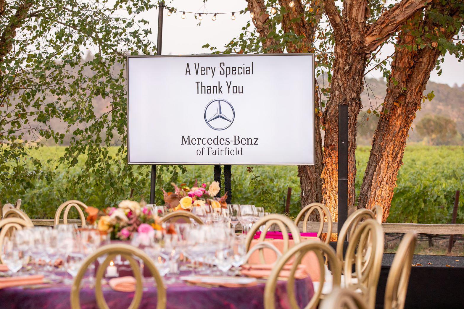 Mercedes sponsorship table
