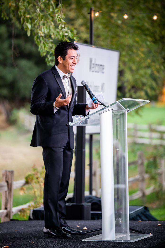 Nick at podium