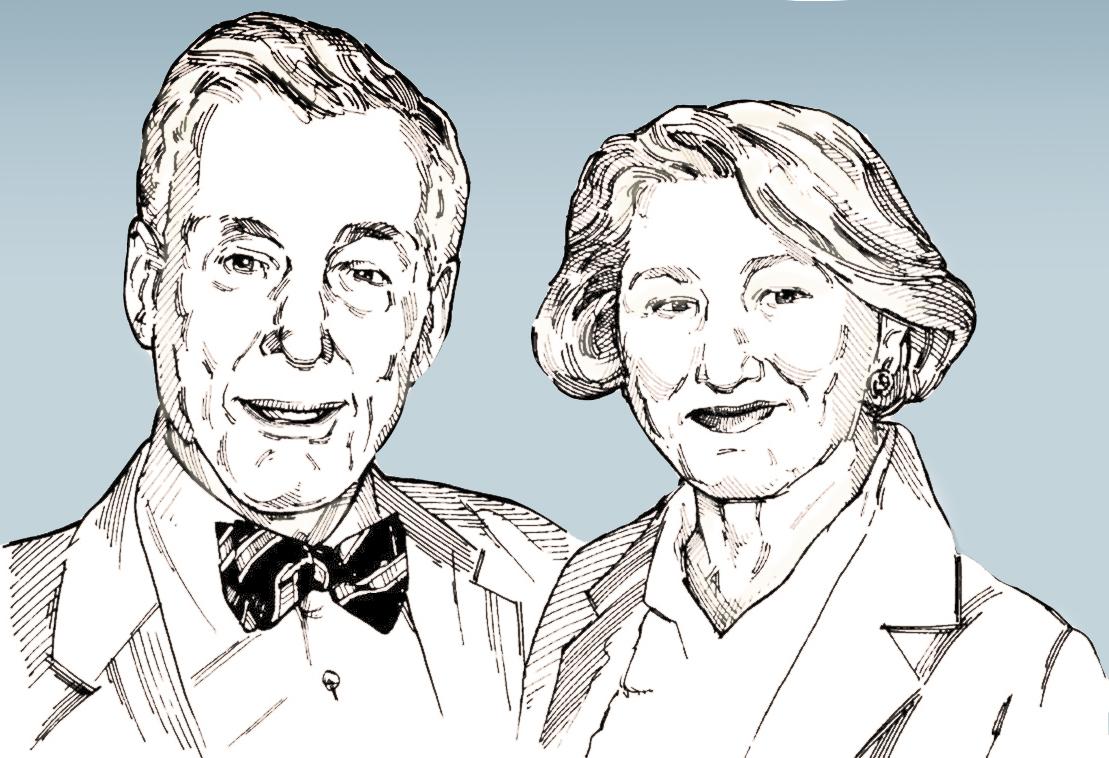 Al and Helen Maggini sketch